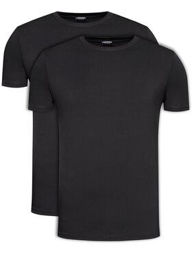 Dsquared2 Underwear Dsquared2 Underwear 2-dielna súprava tričiek DCX200030 Čierna Regular Fit