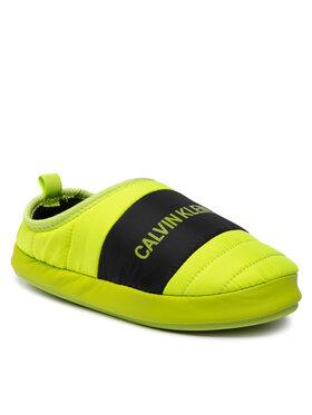 Calvin Klein Jeans Calvin Klein Jeans Bačkory Home Shoe Slipper YM0YM00303 Zelená