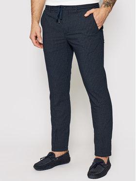 Tommy Hilfiger Tommy Hilfiger Spodnie materiałowe Bleecker Stripe Seer MW0MW17923 Granatowy Slim Fit