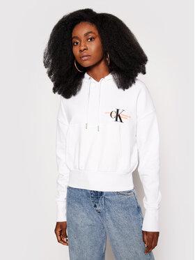 Calvin Klein Jeans Calvin Klein Jeans Bluza J20J216351 Biały Regular Fit