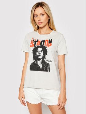 Wrangler Wrangler T-shirt Stand Up W712EEM00 Siva Regular Fit