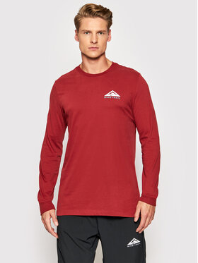 Nike Nike Longsleeve Trail CZ9821 Dunkelrot Standard Fit