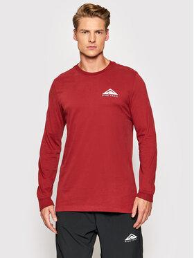 Nike Nike Тениска с дълъг ръкав Trail CZ9821 Бордо Standard Fit