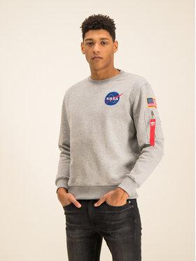 Alpha Industries Alpha Industries Majica dugih rukava Space Shuttle 178307 Siva Regular Fit