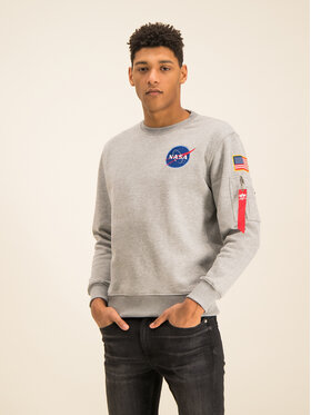 Alpha Industries Alpha Industries Sweatshirt Space Shuttle 178307 Grau Regular Fit