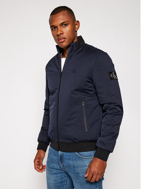 Calvin Klein Jeans Calvin Klein Jeans Geacă bomber Zip-up Harrington J30J316615 Bleumarin Regular Fit