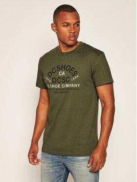 DC DC T-Shirt Common Ground EDYZT04176 Zielony Regular Fit