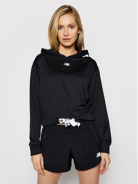 New Balance New Balance Pulóver NBWT11169 Fekete Relaxed Fit