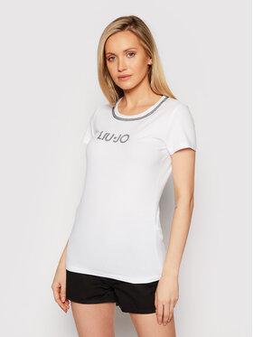 Liu Jo Beachwear Liu Jo Beachwear T-Shirt VA1094 J5003 Bílá Regular Fit