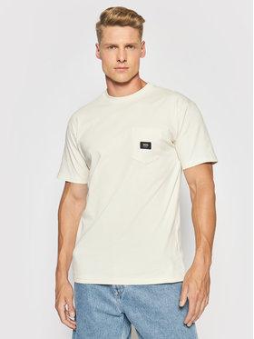 Vans Vans T-Shirt Woven Patch Pocket VN0A5KD9 Beżowy Regular Fit
