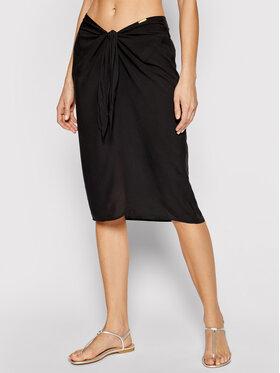 Calvin Klein Swimwear Calvin Klein Swimwear Midi sukně KW0KW01353 Černá Regular Fit