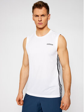 adidas adidas Tank top Design 2 Move 3-Stripes DU1249 Bílá Standart Fit