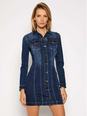 Elisabetta Franchi Elisabetta Franchi Sukienka jeansowa AJ-14S-06E2-V399 Niebieski Slim Fit