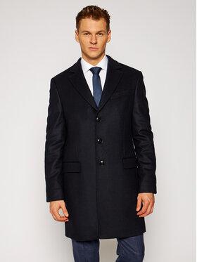Tommy Hilfiger Tailored Tommy Hilfiger Tailored Vlněný kabát Wool Blend TT0TT08117 Tmavomodrá Regular Fit