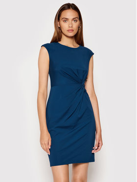 DKNY DKNY Sukienka koktajlowa DD1EV652 Niebieski Slim Fit