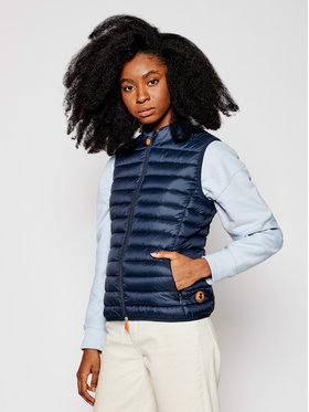 Save The Duck Save The Duck Gilet D85310W GIGA Blu scuro Slim Fit