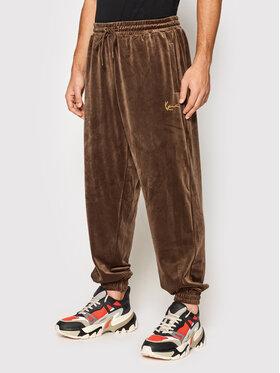 Karl Kani Karl Kani Pantalon jogging Small Signature Velvet 6006730 Marron Regular Fit