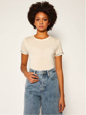 Calvin Klein Calvin Klein T-shirt Ss Logo Cuff K20K202134 Žuta Slim Fit