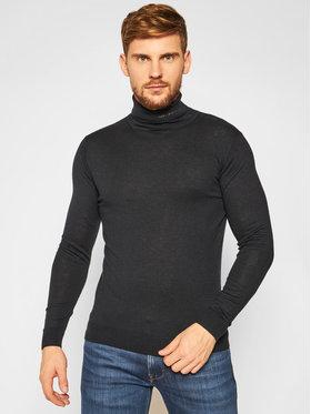 KARL LAGERFELD KARL LAGERFELD Bluză cu gât Knit 655040 502306 Bleumarin Regular Fit