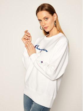 Champion Champion Sweatshirt Script Logo 113795 Blanc Regular Fit