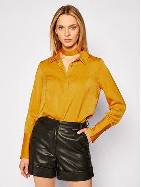 Guess Guess Camicia Vivian W0BH05 W3TO2 Giallo Loose Fit