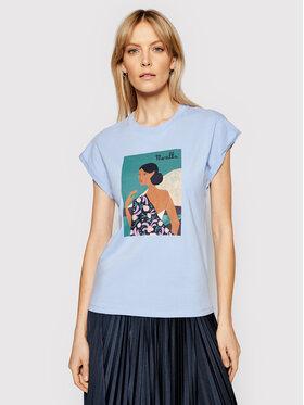 Marella Marella T-Shirt Giulia 39410512200 Niebieski Regular Fit