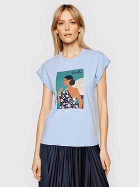 Marella Marella T-shirt Giulia 39410512200 Plava Regular Fit