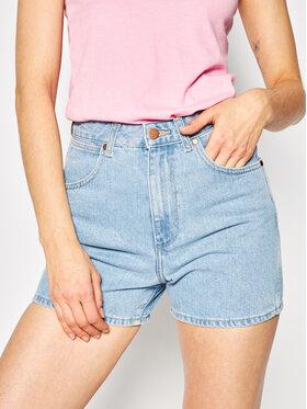 Wrangler Wrangler Szorty jeansowe Mom W22DWP76Q Niebieski Regular Fit