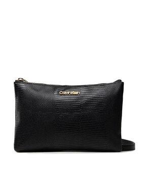 Calvin Klein Calvin Klein Handtasche Ck Must Ew Dbl Cpt Xbody Liz K60K608573 Schwarz
