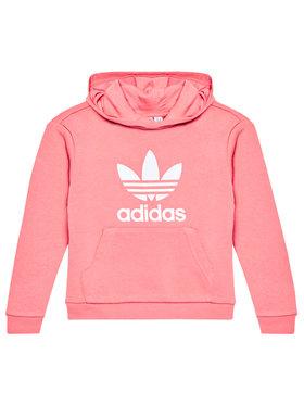 adidas adidas Pulóver Trefoil GN8258 Rózsaszín Regular Fit