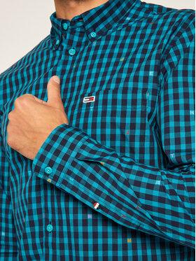 Tommy Jeans Tommy Jeans Marškiniai Tjm Branded Oinoham DM0DM07917 Žalia Regular Fit