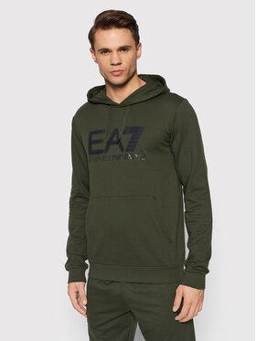 EA7 Emporio Armani EA7 Emporio Armani Majica dugih rukava 6KPM62 PJ05Z 1852 Zelena Regular Fit