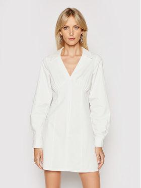 NA-KD NA-KD Rochie tip cămașă 1018-006777-0001-580 Alb Slim Fit