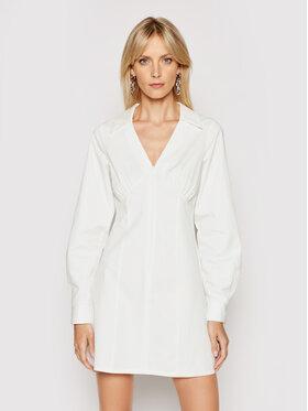 NA-KD NA-KD Рокля тип риза 1018-006777-0001-580 Бял Slim Fit