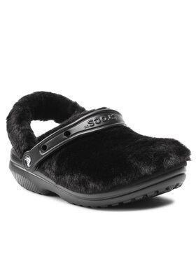Crocs Crocs Șlapi Classic Fur Sure 207303 Negru
