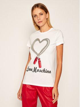 LOVE MOSCHINO LOVE MOSCHINO Тишърт W4F7369M 3876 Бял Regular Fit
