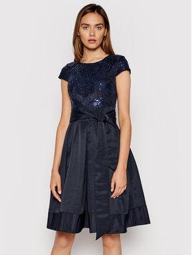 Lauren Ralph Lauren Lauren Ralph Lauren Kokteilinė suknelė 253837669002 Tamsiai mėlyna Slim Fit