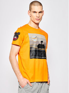 Alpha Industries Alpha Industries T-Shirt VIKING 76 T 126554 Pomarańczowy Regular Fit