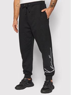 Karl Kani Karl Kani Teplákové kalhoty Signature Retro 6004737 Černá Relaxed Fit