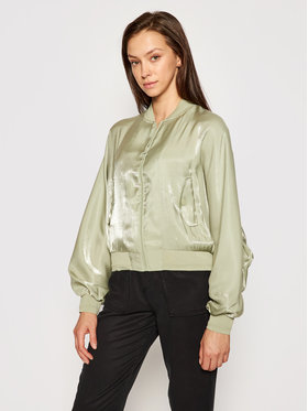 Guess Guess Bomber striukė W1GL97 WCUA2 Žalia Relaxed Fit