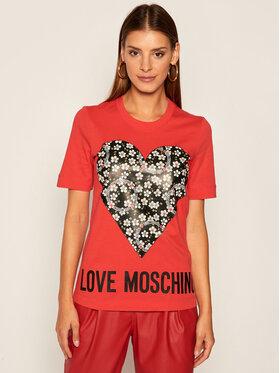 LOVE MOSCHINO LOVE MOSCHINO T-shirt W4F152LM 3876 Crvena Regular Fit