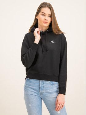 Calvin Klein Jeans Calvin Klein Jeans Mikina Embroidered Logo J20J213178 Černá Regular Fit