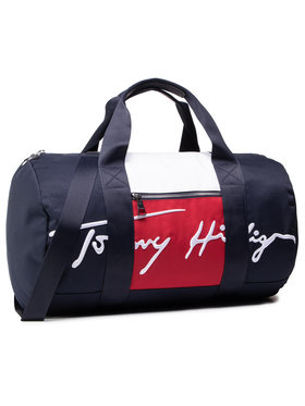 Tommy Hilfiger Tommy Hilfiger Krepšys Th Signature Duffle AM0AM07380 Tamsiai mėlyna