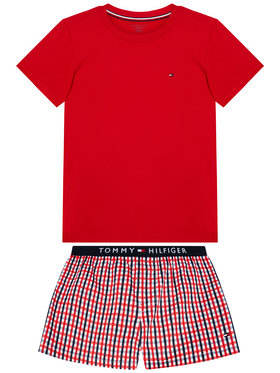 Tommy Hilfiger Tommy Hilfiger Πιτζάμα Woven Print UB0UB00306 Κόκκινο Regular Fit