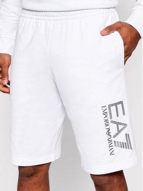 EA7 Emporio Armani EA7 Emporio Armani Sportovní kraťasy 3KPS73 PJ05Z 1100 Bílá Regular Fit