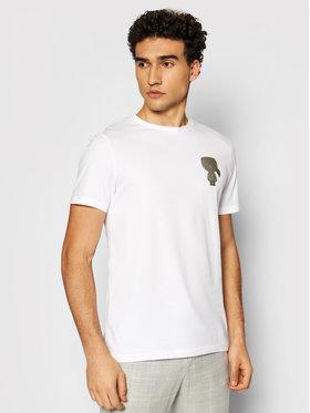 KARL LAGERFELD KARL LAGERFELD T-shirt Crewneck 755080 511224 Blanc Regular Fit