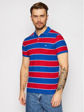 Wrangler Wrangler Тениска с яка и копчета Ss Yd Stripe W7ALKFXA4 Цветен Regular Fit