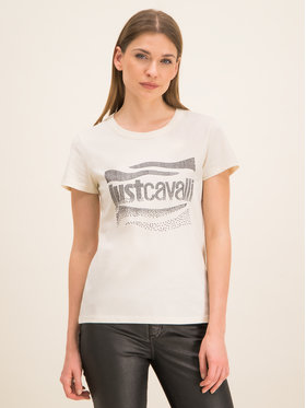 Just Cavalli Just Cavalli T-Shirt S04GC0333 Bílá Slim Fit