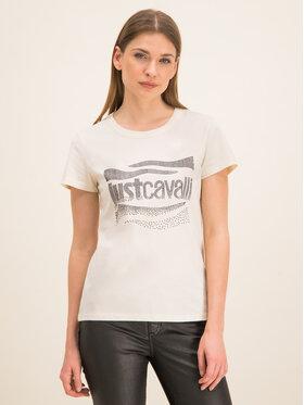 Just Cavalli Just Cavalli T-Shirt S04GC0333 Weiß Slim Fit