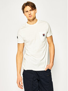 Fila Fila T-shirt Taren 687714 Bianco Regular Fit